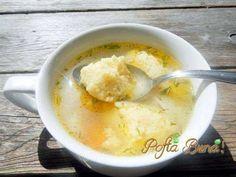 galuste-pufoase-de-gris-pofta-buna-gina-bradea (2) Soup Recipes, Vegetarian Recipes, Recipies, Cooking Recipes, Romanian Food, Hungarian Recipes, Mediterranean Recipes, Cheeseburger Chowder, Mashed Potatoes