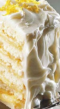 Doberge Lemon Cake - Ingenious New Orleans bakers took the famous European dobos torte and fashioned the New Orleans version, Doberge (DO-bash) Cake, a six-layer cake. ❊