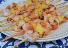 Grilled Shrimp and Pineapple Skewers - Grill Grrrl Blog: Grill Girl, Big Green Egg Recipes, Healthy Grilling Recipes, Tailgating Recipes, Pa...