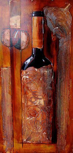Gerald Ivey Art, Art of Wine. Bottle of wine. Wine Tasting Experience, Wine Painting, Wine Photography, Wine Bottle Holders, Wine Bottles, Wine Packaging, Wine Art, Wine Quotes, Wine O Clock