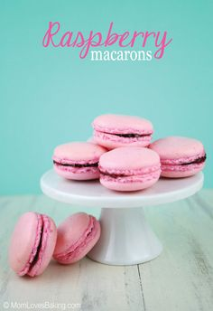 I finally did it! I made Raspberry Macarons - the mysterious French cookie. My daughter has been asking me to make them for at least a year and I was actually afraid to try them. Raspberry Macaroons, French Macaroons, Macarons, Pink Macaroons, Macaron Filling, Macaroon Recipes, Raspberry Recipes, French Cookies, Pink Food Coloring