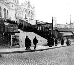 Le «Sacré-Coeur» à Montmartre vers 1910