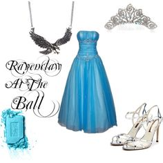 """""""Ravenclaw At The Ball"""" by nearlysamantha on Polyvore"""