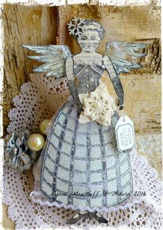 Winter Wishes by Lynne Moncrieff working with Character Constructions art stamps.
