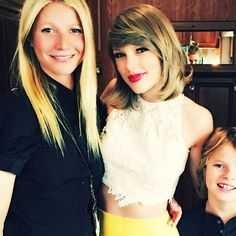 GP with son Moses and Taylor Swift