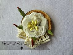 Make a Rustic Button Brooch