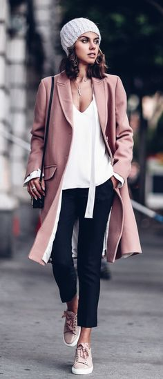 blush winter coat