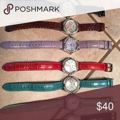 Fossil watches All watches have mother of pearl dials all in wonderful condition Fossil Other