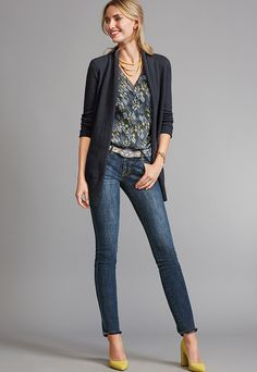 20f0801afec Stitch Fix Sylist--Love this blouse! Send Fall Floral! Women s Work Outfits