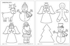 Step 1 Christmas Stick Puppets craft