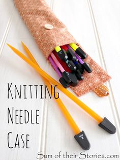 Stitch a Knitting Needle Case using a really adaptable pouch pattern, it's easy to adjust it to any size
