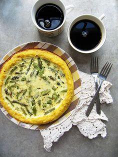 Creamy Asparagus Polenta Quiche
