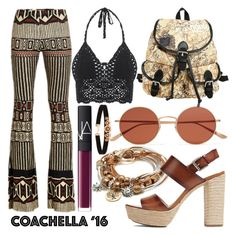 """Coachella Neutrals"" by minchu ❤ liked on Polyvore featuring Black Coral, NARS Cosmetics, Oliver Peoples, Forever 21, Lizzy James and Michael Kors"