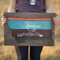 New! This Montana wall hanging is the perfect addition to your home or makes the…
