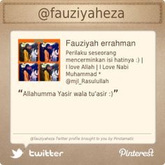 @fauziyaheza's Twitter profile courtesy of @Pinstamatic (http://pinstamatic.com)