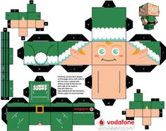 Blog Paper Toy papertoys CCS Elf template preview The Christmas Clones by Cubeecraft (x 5)