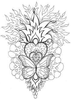 Top Mandalas Gratuits - Mandala Cœur Flammes - Mandalas à imprimer, mandalas à colorier, mandalas à télécharger gratuitement, mandalas pour adultes et pour enfants