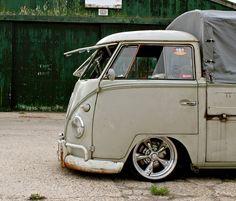 Slammed VW Bus single cab