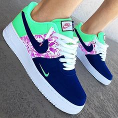 Checkout the top 20 Nike shoes👟. Nike Shoes Blue, Nike Shoes Air Force, Cute Sneakers, Shoes Sneakers, Zapatillas Nike Air Force, Reflective Shoes, Jordan Shoes Girls, Aesthetic Shoes, Hype Shoes