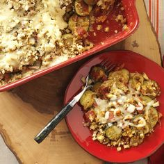 Compliments crop up as fast as vines when folks sample this zucchini casserole. Even those who generally don't like zucchini find they enjoy it in this savory side dish. —Kimberly Speta, Kennedy, New York Zucchini Casserole, Vegetarian Casserole, Vegetarian Recipes Dinner, Casserole Recipes, Veggie Recipes, Pork Recipes, Lunch Recipes, Yummy Recipes, Dinner Recipes