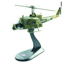 Pre-Built Model Aircraft - BELL UH1B Huey diecast 172 helicopter model * Click image for more details.