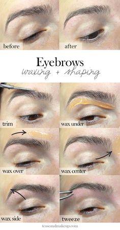 Eyebrow Waxing + Shaping | Do it yourself at home | Eyebrow Tutorial | Waxing | GiGi Wax Kit | DIY | Brows  www.teaseandmakeup.com