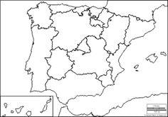 Mapa Mudo Comunidades Autonomas España Para Imprimir.Las 30 Mejores Imagenes De Mapas En 2019 Mapas Mapa De