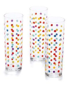 Polka Dot glasses by Fishs Eddy, $24 for 4; fishseddy.com
