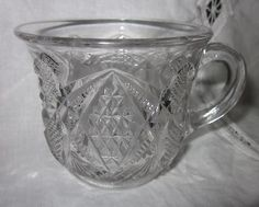 """EAPG 1897 by U. S. Glass, Balder """"PENNSYLVANIA"""" State series Punch cup"""