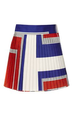Giant Graphic Dots Pleated Mini Wrap Skirt by Suno for Preorder on Moda Operandi