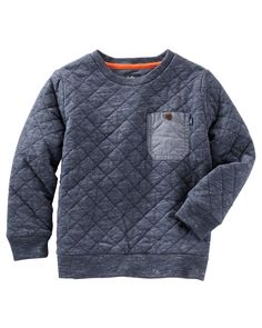 Toddler Boy Quilted Pullover from OshKosh B'gosh. Shop clothing & accessories from a trusted name in kids, toddlers, and baby clothes.