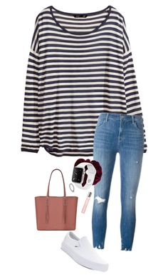 """Untitled #796"" by shelbycooper ❤ liked on Polyvore featuring H&M, J Brand, Pandora, Vans, Lancôme and Nine West"