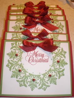 Items similar to Stampin Up Set 6 Handmade Christmas Cards Take a look at my other card sets Love to combine shipping on Etsy Homemade Christmas Cards, Stampin Up Christmas, Christmas Cards To Make, Xmas Cards, Handmade Christmas, Homemade Cards, Holiday Cards, Christmas Crafts, Merry Christmas