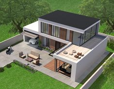 Haus moderne Architektur How To Choose A Tool Box You're working on your car out in the garage. Best Modern House Design, Sims House Design, Bungalow House Design, Small House Design, Modern House Plans, Sims 4 Modern House, Building A Container Home, Container House Plans, Container House Design