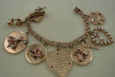 Vintage 14k Charm Bracelet Circa 1950'S | eBay..