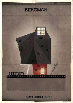 Федерико Бабина иллюстрирует мнимую архитектуру от знаменитых кинорежиссеров