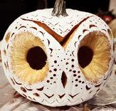 Such a cool pumpkin carving idea with a white gourd (or spraypaint!) via @Ted Rubin