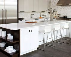 Who could possibly know this highly customized design comes from an Ikea kitchen? The designers from Chroma Express Kitchens from Toronto CA used the Ikea system to design the framework of this stu...