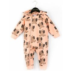Mini Rodini Elephant Onesie (pink) - Køb online her!