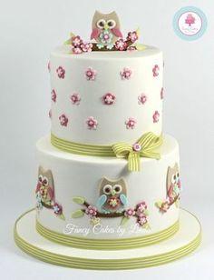 Coruja temático do bolo da celebração