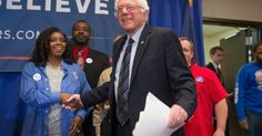 HELLO #Michigan ! - #Bernie #Sanders Greets friends before the #MichiganPrimary #MichiganForBernie #Bernie2016