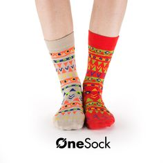 OneSock - Baltimore Red & Beige