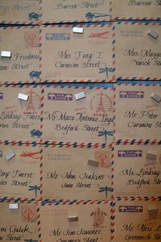 Ideas for wedding themes vintage escort cards Wedding Seating, Wedding Table Numbers, Wedding Themes, Our Wedding, Wedding Decor, Roaring 20s Wedding, Ballroom Wedding, Travel Themes, Table Plans