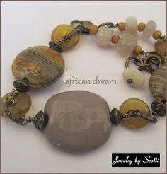 Dark Lavender Sunstone Bracelet // African by JewelryByScotti