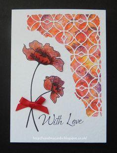 Sandma's Handmade Cards: Inkylicious Watercolour Poppy                                                                                                                                                     More