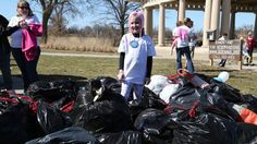 'Best day ever': 8-year-old battling cancer uses Make-A-Wish to pick up trash