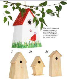 Birdhouses unfinished