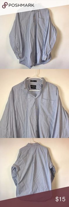 Nautica Cotton 80's 2 Ply Button Up Shirt 17 34/35 Brand: Nautica Item name: Men's Casual 80s 2 Ply Long Sleeve Button Up Shirt   Color: Blue Condition: This is a pre-owned item. It is in excellent used condition with no stains, rips, holes, etc.Comes from a smoke free household. Size: Men's 17 34/35 Measurements: Pit to Pit - 24 inches Shoulder to bottom - 32.5 inches Nautica Shirts Casual Button Down Shirts