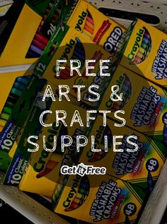 Save on arts & crafts supplies with free samples from Crayola, Sharpie, Scotch, & more at Get It Free! Free Stuff By Mail, Get Free Stuff, Craft Clay, Diy Art, Art For Kids, Crafts For Kids, Craft Projects, Projects To Try, Craft Ideas