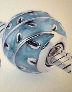 """New"" Pandora Light Blue Enamel Ball with Silver Vines S925 Charm 790525EN18 - http://elegant.designerjewelrygalleria.com/pandora/new-pandora-light-blue-enamel-ball-with-silver-vines-s925-charm-790525en18/"